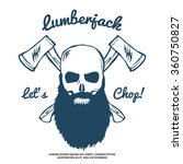 Lumberjack Skull With Bears An...
