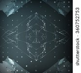abstract polygonal space ... | Shutterstock . vector #360752753
