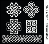 celtic irish patterns and... | Shutterstock .eps vector #360754787