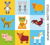 scrap card with animals ... | Shutterstock . vector #360773513
