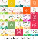 square banners with linear... | Shutterstock .eps vector #360786743