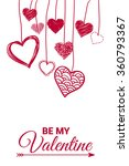 be my valentine. decorative... | Shutterstock .eps vector #360793367