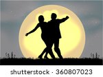 dancing people silhouettes. | Shutterstock .eps vector #360807023