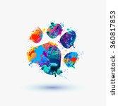 animal footprint. rainbow... | Shutterstock .eps vector #360817853