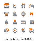 e shopping icons    graphite... | Shutterstock .eps vector #360818477