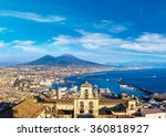 Napoli  Naples  And Mount...