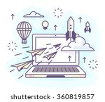 illustration in a flat linear... | Shutterstock .eps vector #360819857