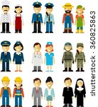 different people professions... | Shutterstock .eps vector #360825863