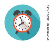 alarm clock circle icon with... | Shutterstock .eps vector #360827153