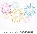bursting fireworks with stars... | Shutterstock .eps vector #360834437
