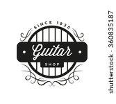 retro guitar shop logo | Shutterstock .eps vector #360835187