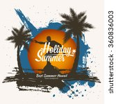 beautiful summer background.... | Shutterstock .eps vector #360836003