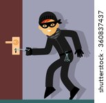 Thief Character In Steal Actio...