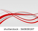 abstract wavy background. red...