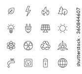 ecology and energy line icons | Shutterstock .eps vector #360844607