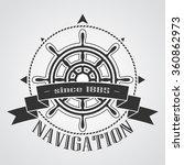 ship steering wheel corporate...   Shutterstock .eps vector #360862973