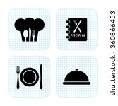 restaurant  vector icon set | Shutterstock .eps vector #360866453