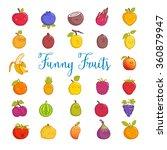 funny fruits | Shutterstock .eps vector #360879947
