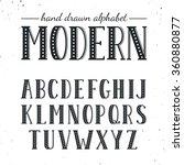 hand drawn alphabet. uppercase...   Shutterstock .eps vector #360880877