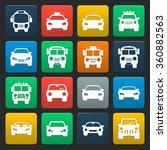 car icons set. | Shutterstock .eps vector #360882563