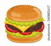 vector burger isolated on white ... | Shutterstock .eps vector #360882617
