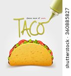 vector mexican taco with meat.... | Shutterstock .eps vector #360885827
