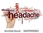 headache word cloud | Shutterstock . vector #360900083