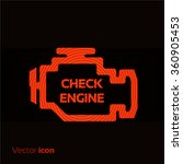 check engine  red icon isolated ... | Shutterstock .eps vector #360905453