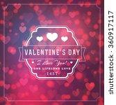 happy valentines day retro... | Shutterstock .eps vector #360917117