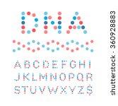 rounded font. vector alphabet... | Shutterstock .eps vector #360928883