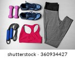 set for sports on gray... | Shutterstock . vector #360934427