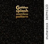 gold splash  spangles or night... | Shutterstock .eps vector #360941123