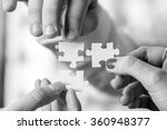 black and white image of three... | Shutterstock . vector #360948377
