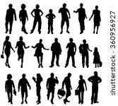 vector silhouettes of different ... | Shutterstock .eps vector #360956927