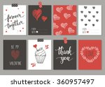 collection of 8 cards of love... | Shutterstock .eps vector #360957497