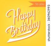 modern calligraphy brush script ... | Shutterstock . vector #360962993