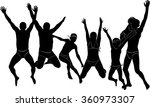 group people jumping holiday... | Shutterstock .eps vector #360973307