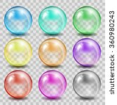 abstract glass color spheres on ...   Shutterstock .eps vector #360980243