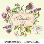 vector vintage banner with wild ... | Shutterstock .eps vector #360993683