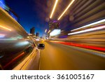 blurred urban look of the car... | Shutterstock . vector #361005167