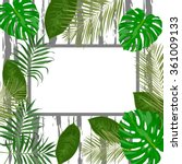 vector tropical frame with... | Shutterstock .eps vector #361009133