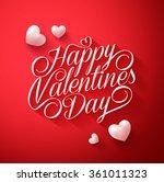 beautiful happy valentines day... | Shutterstock .eps vector #361011323