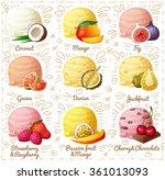 set of cartoon vector icons... | Shutterstock .eps vector #361013093