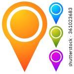 map marker  map pin set.... | Shutterstock .eps vector #361023683