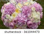 beautiful wedding set up.... | Shutterstock . vector #361044473