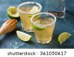 homemade classic margarita...   Shutterstock . vector #361050617