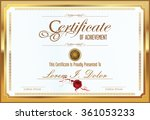 certificate or diploma template | Shutterstock .eps vector #361053233