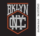 brooklyn new york typography  t ... | Shutterstock .eps vector #361053563