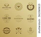 valentine's day labels  badges  ... | Shutterstock .eps vector #361060613