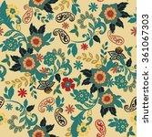 vector illustration of floral... | Shutterstock .eps vector #361067303